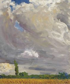 Kees Van Dongen ( Dutch: 1877 - 1968), Champ de blé et coquelicots [Wheat field and poppies].Oil on canvas