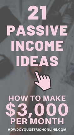 21 Passive Income Ideas. How to Make Money While You Sleep. Are you looking for the best passive income strategies to earn extra money every month? Here are 21 passive Income Ideas that make money while you sleep. From making passive income online to property residual income ideas. From passive income, side hustles, ways to make money from home to investment opportunities. This blog covers the A-Z of passive income. Extra Income Ideas.  #Money #PassiveIncome #Income #EarnMoney #MakeMoney