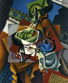 Jean Dominique Antony Metzinger (1883-1956)  Still Life: Playing Cards, Coffee Cup and Apples, 1917
