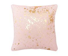 Homewares : Pink Gold Splatter Cushion - flo and frankie Pink Cushions, Gold Pillows, Cute Pillows, Gold Decorative Pillows, Throw Pillows, Pink Bedroom Decor, Pink Bedrooms, Pink Gold Bedroom, Bedroom Ideas