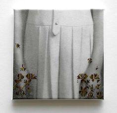 Hella van 't Hof Photomontage, Fabric Art, Textile Art, Art Reference, Fiber Art, Needlepoint, Needlework, Illustration Art, Cross Stitch