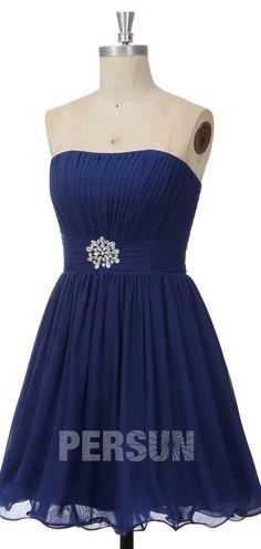 Robe de bal bleu royal courte bustier vague drapé embelli de strass à la taille Bustier, Formal Dresses, Fashion, Royal Blue Prom Dresses, Dress Blues, Inverted Triangle, Rhinestones, Dress Ideas, Fashion Ideas