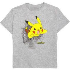 Pokemon Boys Pika Pika Graphic Tee, Boy's, Size: L (10-12), Gray