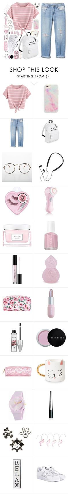 """As you please"" by meowingcat ❤ liked on Polyvore featuring Polaroid, Clarisonic, Christian Dior, Essie, Anastasia Beverly Hills, Forever 21, Dolce&Gabbana, Winky Lux, Bobbi Brown Cosmetics and Swatch"
