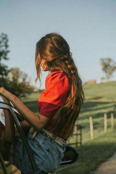 Coupe de cheveux et coiffure : 50 idées pour l'automne - Trendy Mood Formal Hairstyles, Pretty Hairstyles, Easy Hairstyles, Layered Hairstyles, Fantasy Hairstyles, Fashion Hairstyles, Hairstyles 2018, Summer Hairstyles, Long Brunette Hairstyles