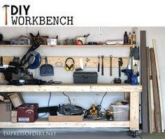 Make A Workbench From Free Plans After completing my DIY greenhouse from old windows this summer, I decided it was time to finally build a proper workbench. I've collected a good array of power and hand tools over the years and (obvious statement coming up…) it's far easier to work on projects when everything has a …