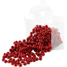 VINTER 2016 Garland Pearls red ($1.84) ❤ liked on Polyvore featuring home, children's room and children's bedding