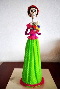 Mexican Folk Crafts, catrinas, paper mache, Frida Kahlo. This series sells for $1,900 apiece.