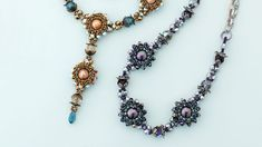 Use modified right-angle weave to create sparkling pearl nests