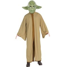 STAR WARS COSTUMES: : Star Wars Yoda Deluxe Adult Costume