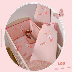 Collection Lou eau de rose pour une chambre bébé thème liberty