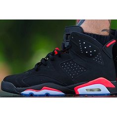 """Air Jordan 6 """"Black Infrared"""" Retro 2014 On Feet Images 
