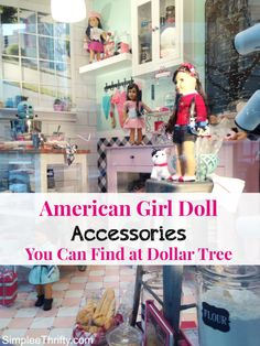 Save on American Girl Doll Accessories: Take a look at these American Girl Doll Accessories you can find at Dollar Tree. For just a few dollars, you can buy your doll some fun and budget friendly accessories that are sure to do the trick.