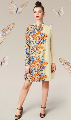 Style and design and pattern could be at the peak of your attractiveness when you attire this buttercream faux georgette ready made kurti. The digital print work seems to be chic and fantastic for any celebration.  #AwesomeHighNeckFloralTunic