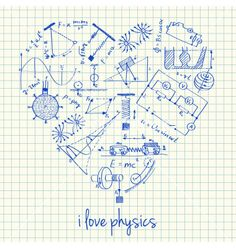 Illustration about Illustration of physics doodles in heart shape. Illustration of chemistry, hand, education - 33012517 Physics Poster, Physics Humor, Engineering Humor, Free Doodles, Physics Formulas, School Clipart, Space And Astronomy, Astrophysics, Physical Science