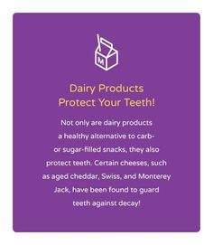 Fun Fact Friday! Did you know that dairy is good for your teeth?
