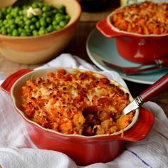 Vegetarian lentil cottage pie with garlic butter sweet potato mash, simple, hearty, healthy and delicious.