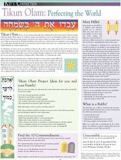 Tikun Olam: Perfecting the World Messianic Judaism, Secular Humanism, Marketplace Of Ideas, Bible Tools, Hebrew School, Biblical Hebrew, Learn Hebrew, Yom Kippur, Try To Remember