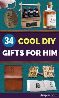 DIY Gifts for Guys - DYI Gift Ideas for Men - Creative Christmas Gift Ideas for Him Ldr Gifts For Him, Diy Gifts For Men, Gifts For Dad, Husband Gifts, Boyfriend Crafts, Diy Gifts For Boyfriend, Birthday Gifts For Boyfriend, Boyfriend Presents, Dyi