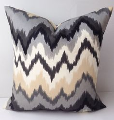 Decorative Throw Pillow Cover Black Gray Pillow by nestables, $20.00