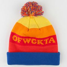 ODD FUTURE OFWGKTA Rainbow Beanie #oddfuture #ofwgkta #OF #tylerthecreator