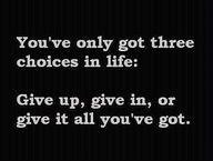 Three choices.