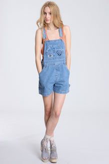 31bac2eb09be Renewal Denim Dungaree Shorts Denim Dungaree Shorts