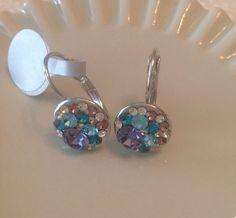 multicolor crystal earrings. by Rossanascorner on Etsy, $22.00