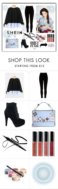 """""""Sheln"""" by explorer-14673103603 on Polyvore featuring River Island, Fendi, Bobbi Brown Cosmetics and Bellápierre Cosmetics"""