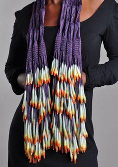 Jasmin Giles wax & textile jewelry
