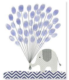 Fingerprint Baby Shower Alternative Guest by SweetPeaNurseryArt