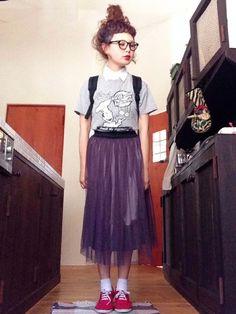 よち│バックパック/リュックコーディネート-WEAR Tulle, Skirts, People, How To Wear, Hair, Outfits, Clothes, Shoes, Fashion