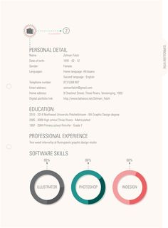 Great Self Promotion Package Resume Design Resume Style
