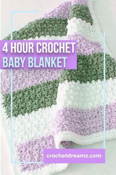 Baby Boy Blankets, Crochet Stitches For Blankets, Crochet Baby Blanket Free Pattern, Crochet Quilt, Afghan Crochet Patterns, Crochet Yarn, Baby Afghans, Baby Patterns, Stitch Patterns