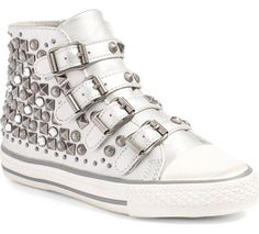 metallic shoes for kids   studded silver Viper high tops