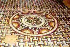 tapis natté et rosace