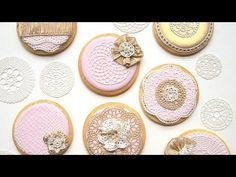 How To Use SugarVeil® Icing To Decorate Wedding Cookies - YouTube