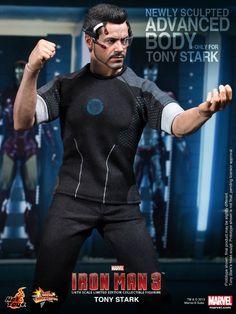 Hot Toys Movie Masterpiece Series Tony Stark Sixth Scale Figure - Iron Man 3