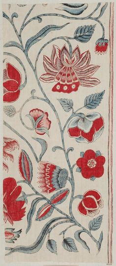 Piece of painted cotton Indian, probably 18th century