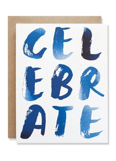 Celebrate Indigo Card | Sycamore Street Press