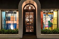 Our David Hockney inspired windows by Philip Gorrivan during LCDQ Legends 2017