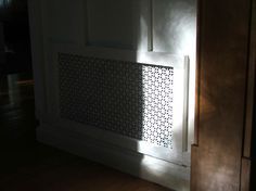 DIY Air Return Vent using aluminum sheeting in Union Jack pattern from Home Depot House Projects, Diy Projects, Air Vent Covers, Air Return, Garage Room, Diy Ideas, Decor Ideas, House Pics, Home Fix