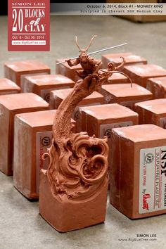 """Simon Lee (Spiderzero) """"Here we go, Block No.1. Sculpted from a single block of Chavant NSP Medium clay. More pictures on my site"""""""
