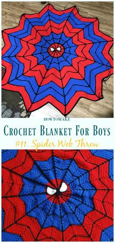 Spider Web Throw Free Crochet Pattern- #Crochet; #Blanket; Free Patterns For Boys