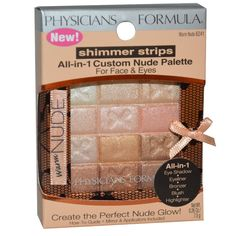 Physician's Formula, Inc., Shimmer Strips, All-in-1 Custom Nude Palette, Warm Nude, 0.26 oz (7.5 g) - iHerb.com