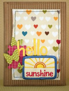 card by Shimelle Laine for American Crafts