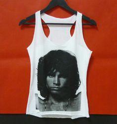 Jim Morrison singer WOMEN TANK TOP SLEEVELESS size S singlet tshirt