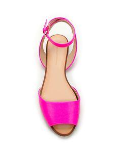 bright pink zara sandals
