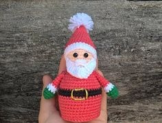 Crocheted Christmas Toy Set Santa Claus and Mrs. Santa Claus   Cute Santa Claus and Mrs. Santa Claus will be a wonderful decoration for your home for Christmas and New Year.   Height crocheted Santa Claus 14 cm ( 5.51 )  Down the diameter of the toy 5.5 cm ( 1.97 )    Height crocheted Mrs. Santa Claus 12 cm ( 4.72 )  Down the diameter of the toy 5.5 cm ( 1.97 )    Stuffing material: Holofiber (hypoallergenic) This toys is created in a house in which no smoking and no pets!   Standard…
