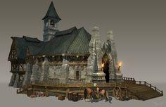 ArtStation - Town Hall, Dirty J